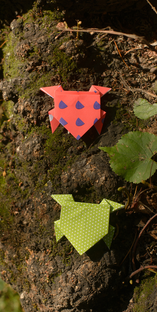 learn how to make origami jumping frogs