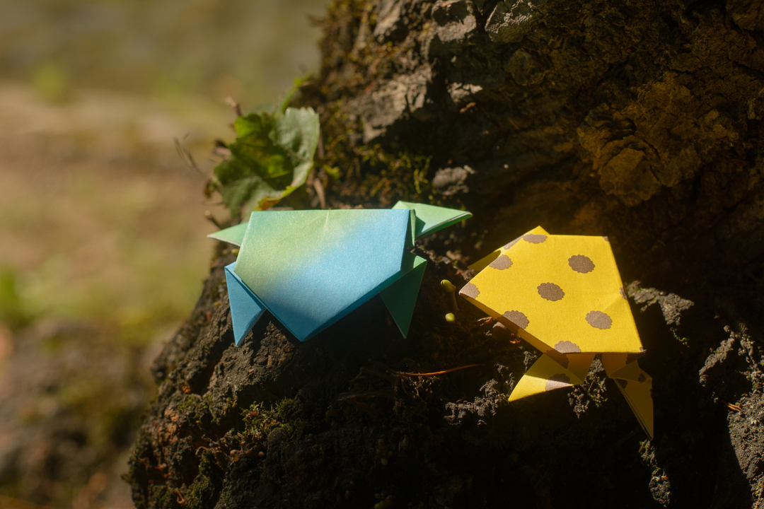 learn how to make origami jumping frog
