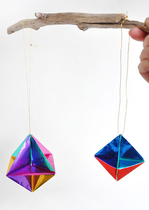 origami christmas ornaments