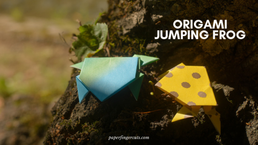 Origami: Origami Jumping Frog Tutorial Origami Jumping Frog ... | 563x1000