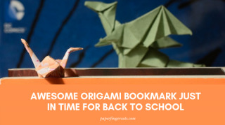 Awesome Origami Bookmark Just In Time For Back To School
