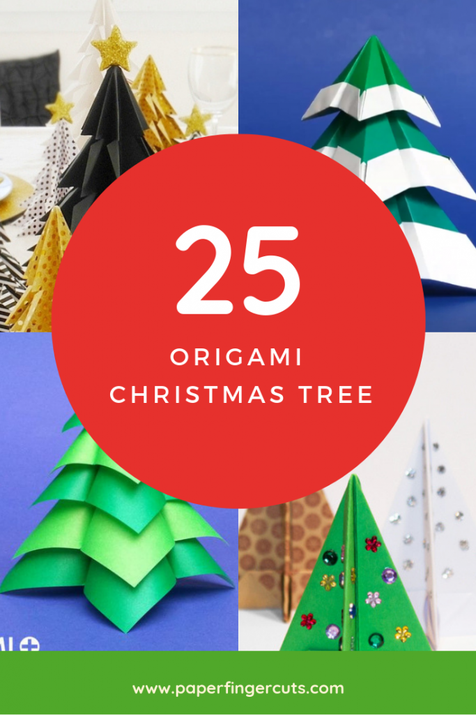 DIY 25 Origami Christmas Tree