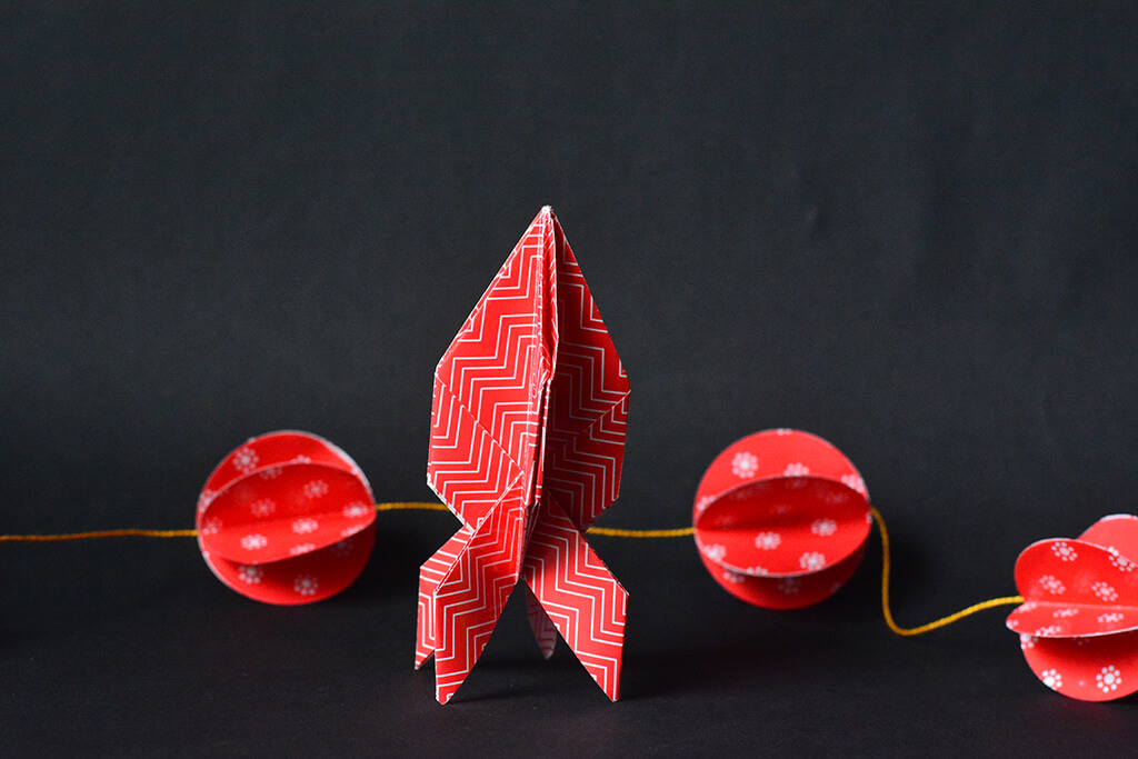 Origami Rocket Designed By Paper Kawaii (2)