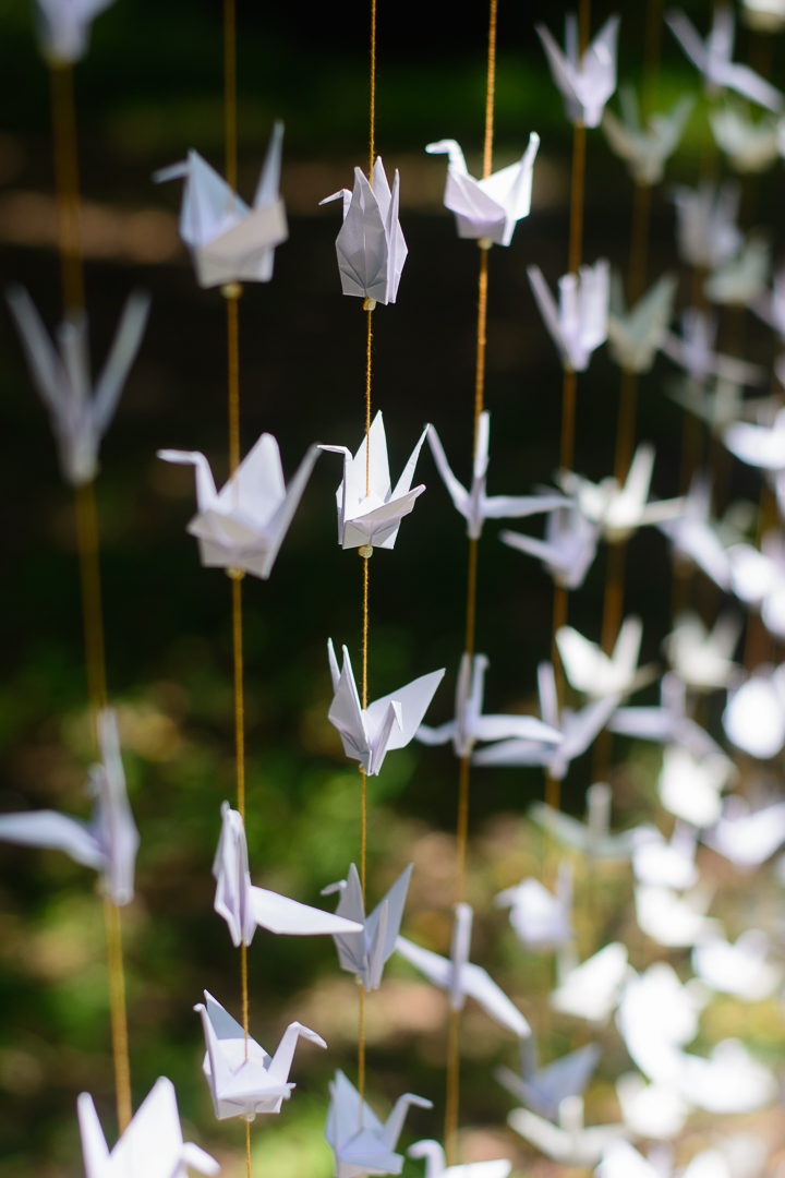 Origami Wedding Diy White Cranes Garlands Backdrop