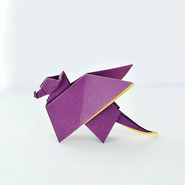 Origami Dragon designed by Eric Joisel