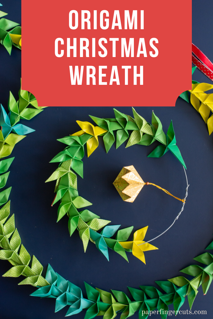Easy and Quick origami Christmas Wreath. Christmas paper ornament ... | 1102x735