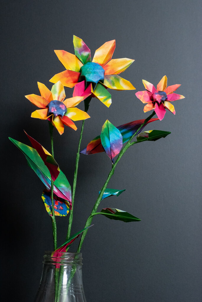 origami sunflowers