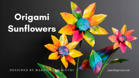 origami sunflowers (1)