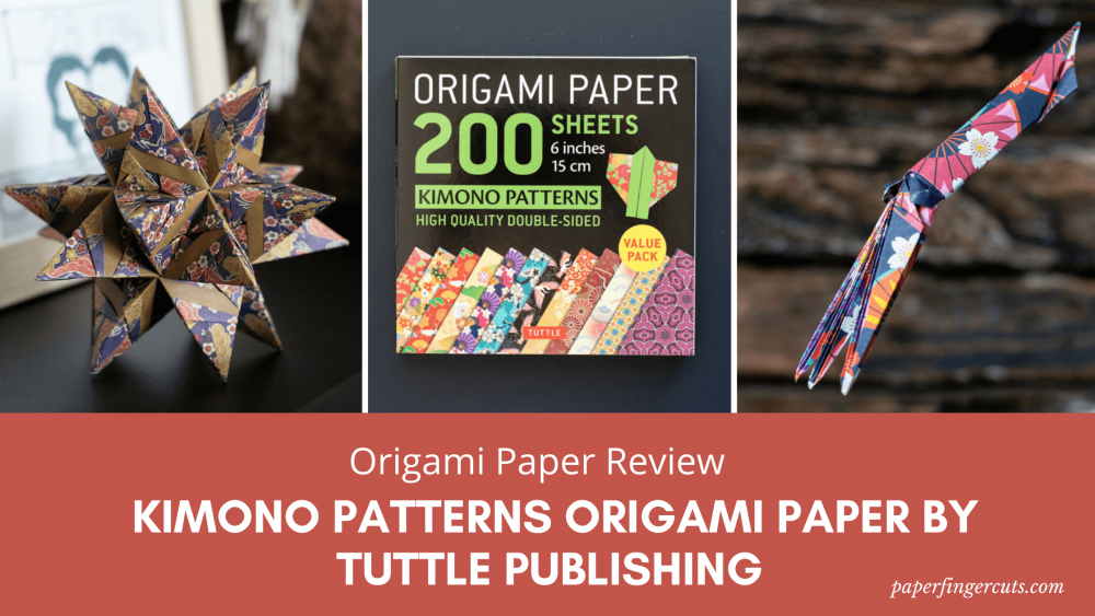 200 sheets kimono patterns Origami paper review by Tuttle Publishing (1)