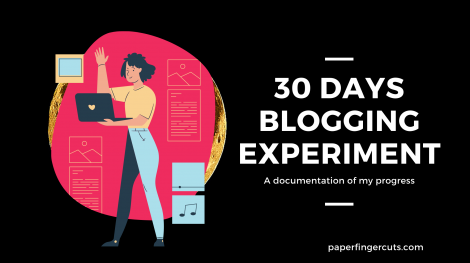 30 days blogging experiment
