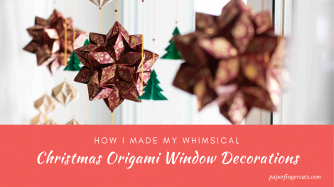How I Made My Whimsical Christmas Origami Window Decorations (1)